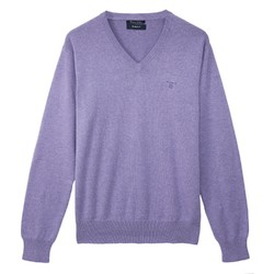 Gant Cotton V-Neck Lilac Melange