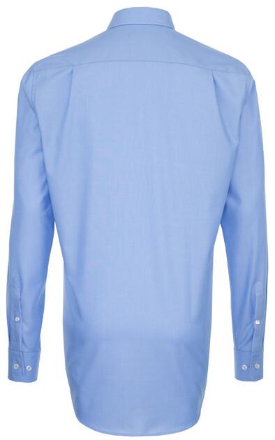 Seidensticker uni extra mouwlengte overhemd in kleur midden blauw jan rozing mannenmode online - Kleur blauw olie ...