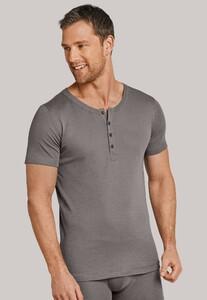 Schiesser Long Life Cool Button Shirt Taupe